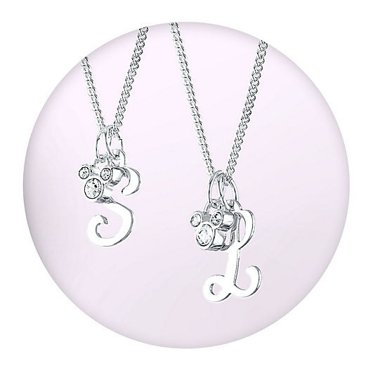 Mickey Mouse icon initial necklaces