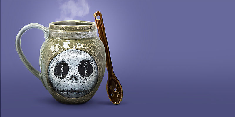 Jack Skellington mug and spoon