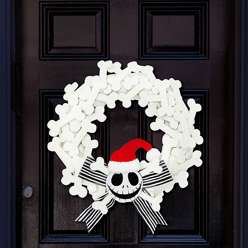 Jack Skellington bone wreath