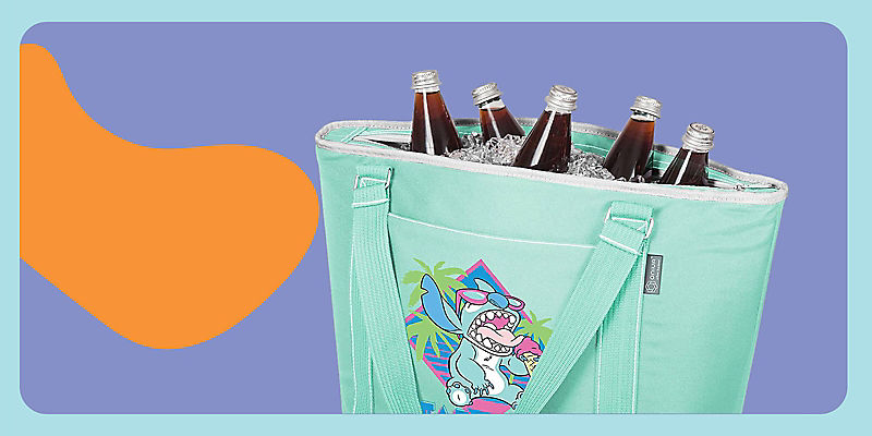 Stitch cooler tote bag