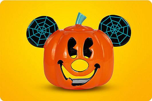 Mickey pumpkin votive