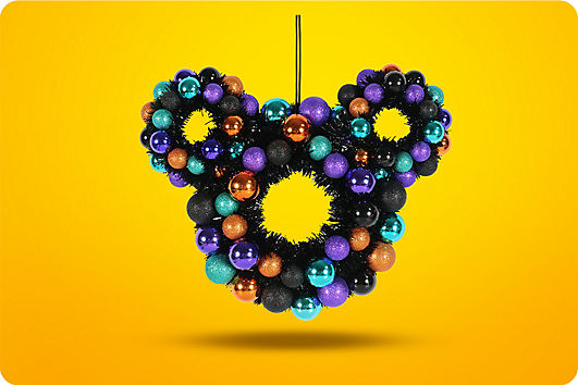 Mickey icon Halloween wreath