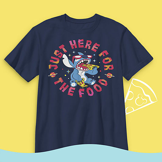 Stitch pizza T-shirt