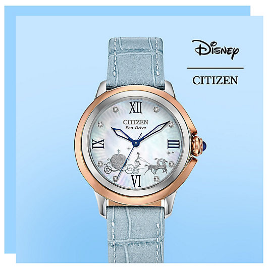 Citizen branded watch featuring a horse drawn carriage