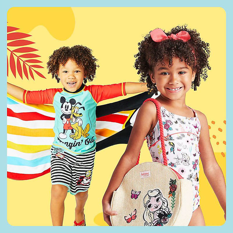 Kids in Mickey & Friends and Princess swimwear