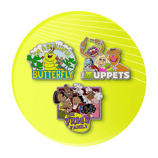 Bug's Life, Muppets and Proud Family pins