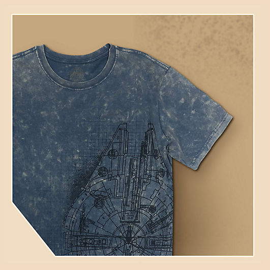 Background image of Millennium Falcon T-Shirt for Adults