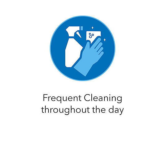 Frequent Cleaning throughout the day