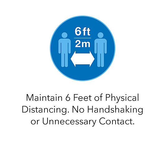Maintain 6 Feet of Physical Distancing. No Handshaking or Unnecessary Contact