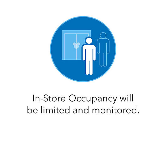 In-Store Occupancy will be limited and monitored.