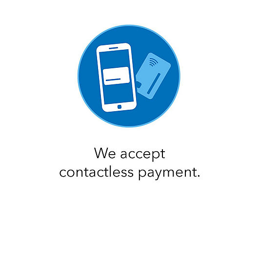 We accept contactless payment.