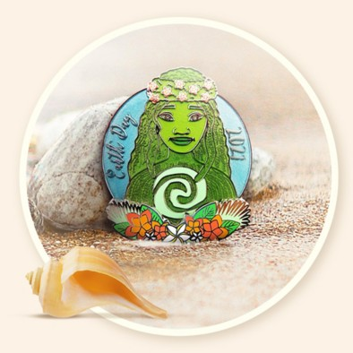 Background image of Earth Day Pin