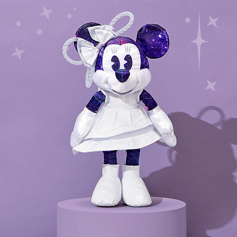 Minnie plush with Space Mountain design
