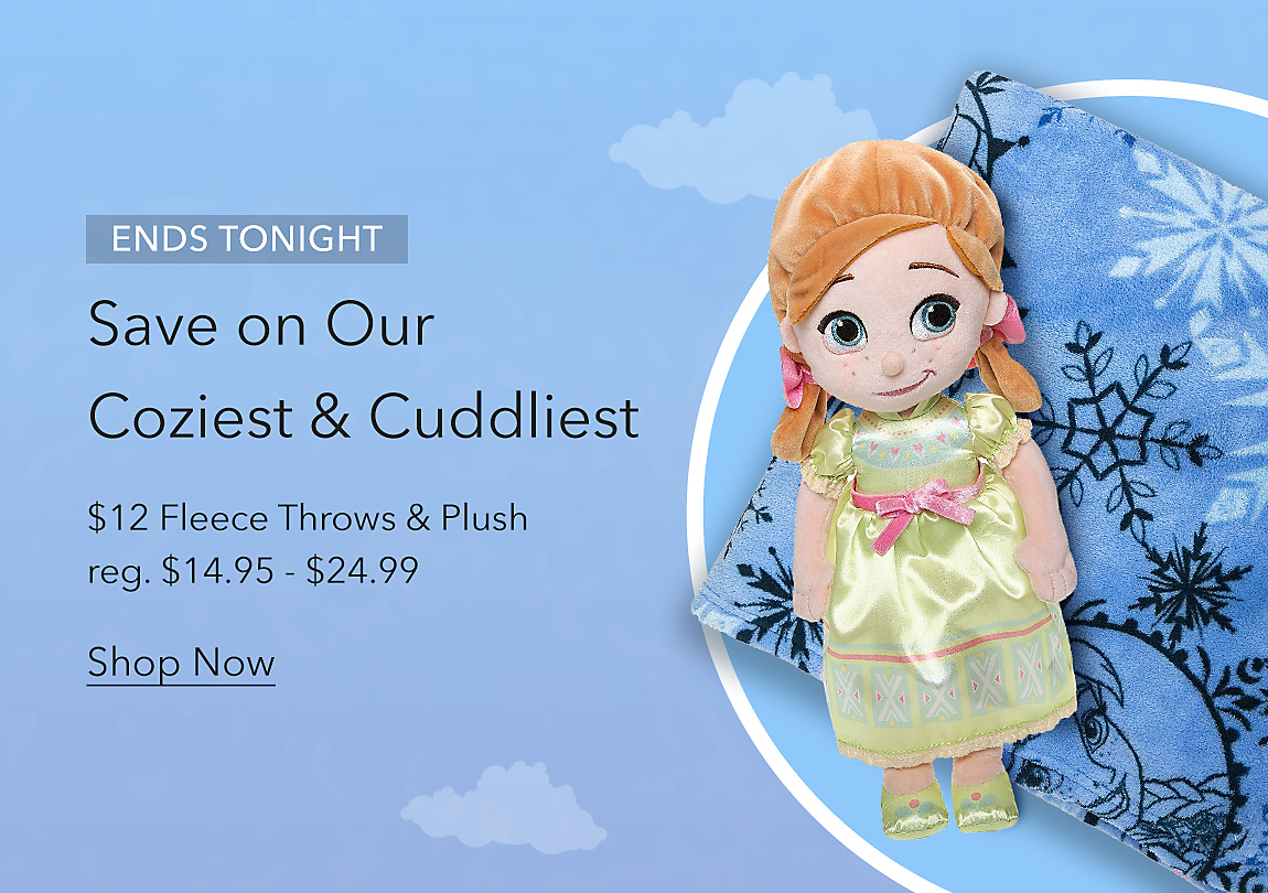 ENDS TONIGHT Save on Our Coziest & Cuddliest $12 Fleece Throws & Plush reg. $14.95 - $24.99