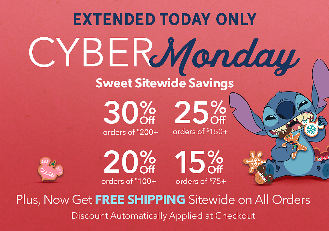 Extended! 30% Off Orders of $200+ 25% Off Orders of $150+ 20% Off Orders of $100+ 15% Off Orders of $75+ with Code: CYBER, Plus, FREE SHIPPING on Orders of $75+