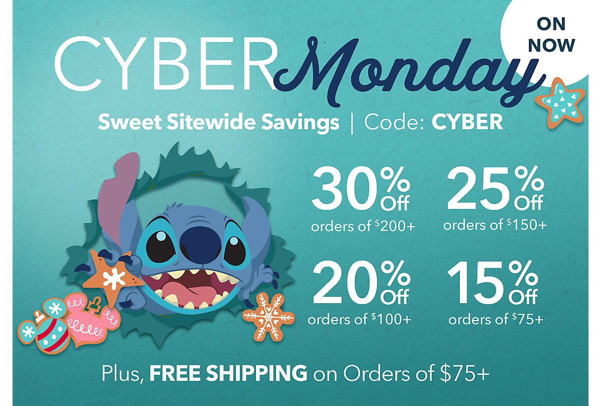 shopDisney Cyber Monday Savings: Up to 30% off on Sitewide