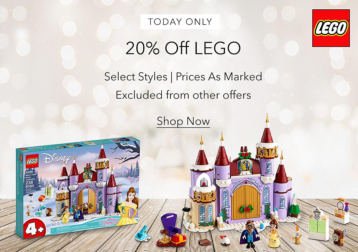 TODAY ONLY 20% Off LEGO Select Styles | Prices As Marked Excluded from other offers Shop Now
