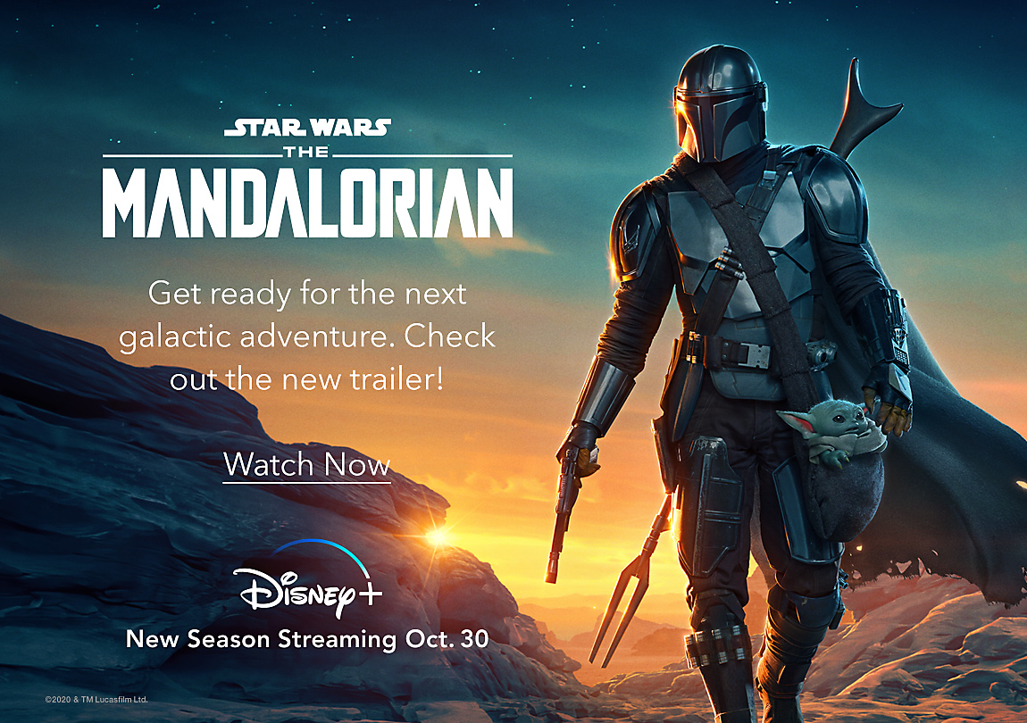 Star Wars: The Mandalorian Get ready for the next galactic adventure. Check out the new trailer!
