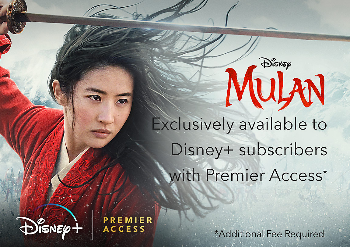 Mulan live action Now on Disney plus