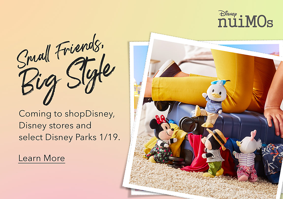 Small Friends, Big Style Coming to shopDisney, Disney stores and select Disney Parks 1/19. Learn More