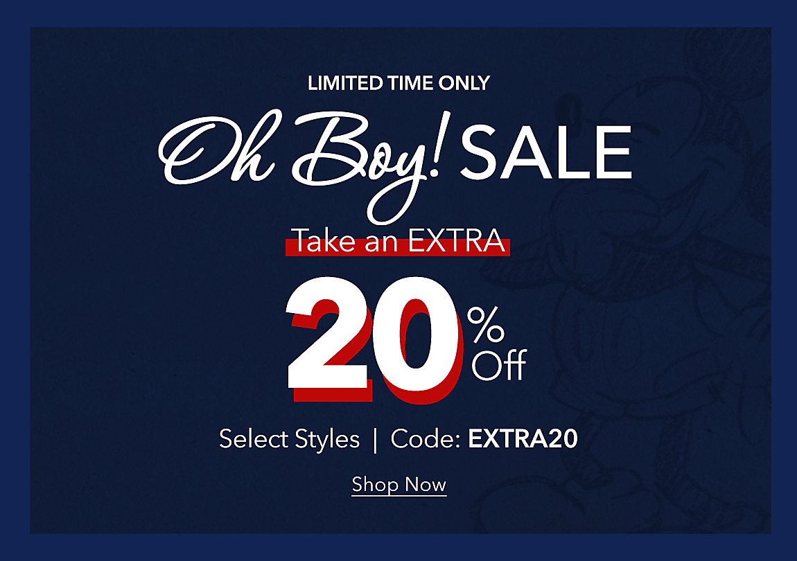 Limited Time Only Take an Extra 20% Off Save even more on sale-priced items. Code: EXTRA20  Shop Now