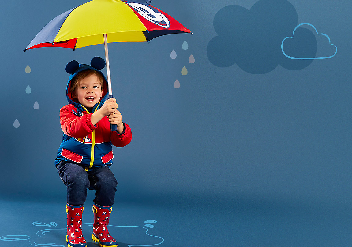 Background image of Rainwear featuring favorite characters.