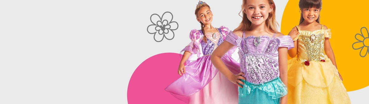 Background image of Girls' Halloween Costumes & Princess Dresses