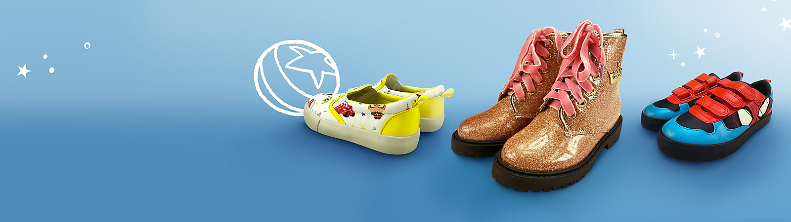 Kids' Shoes Step right up to character-fun styles for kids.