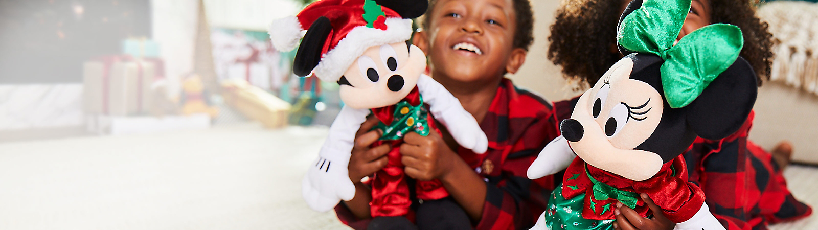 $12.50 Mickey or Minnie Mouse<br>Holiday Plush