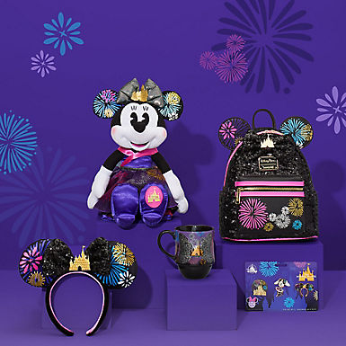Nighttime Castle & Grand Finale earhat, mug, backpack, pins and plush