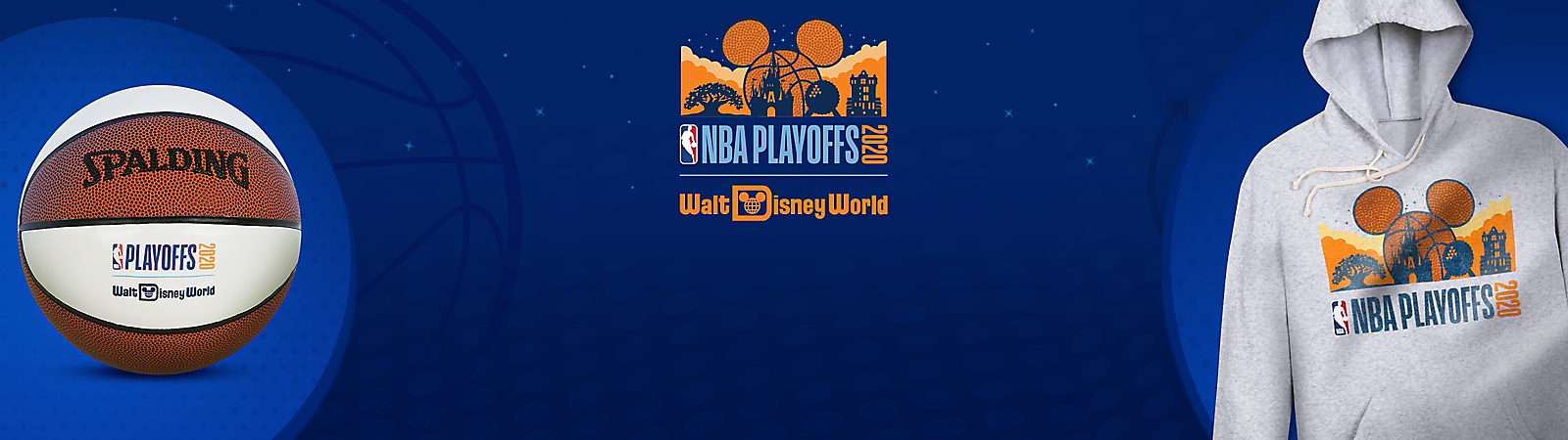 NBA Playoffs 2020 Walt Disney World Resort [logo]  NBA Playoffs Spalding basketball NBA Playoffs hoodie