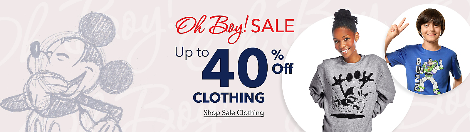 Oh, Boy! Sale on Now! Enjoy savings up to 40% off clothing. Shop Sale T-Shirts | Shop Sale Clothing