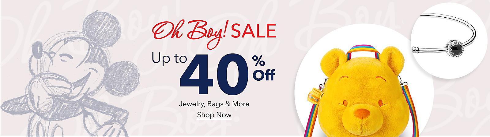 Oh Boy! Sale Up to 40% Off Jewelry, Bags & More