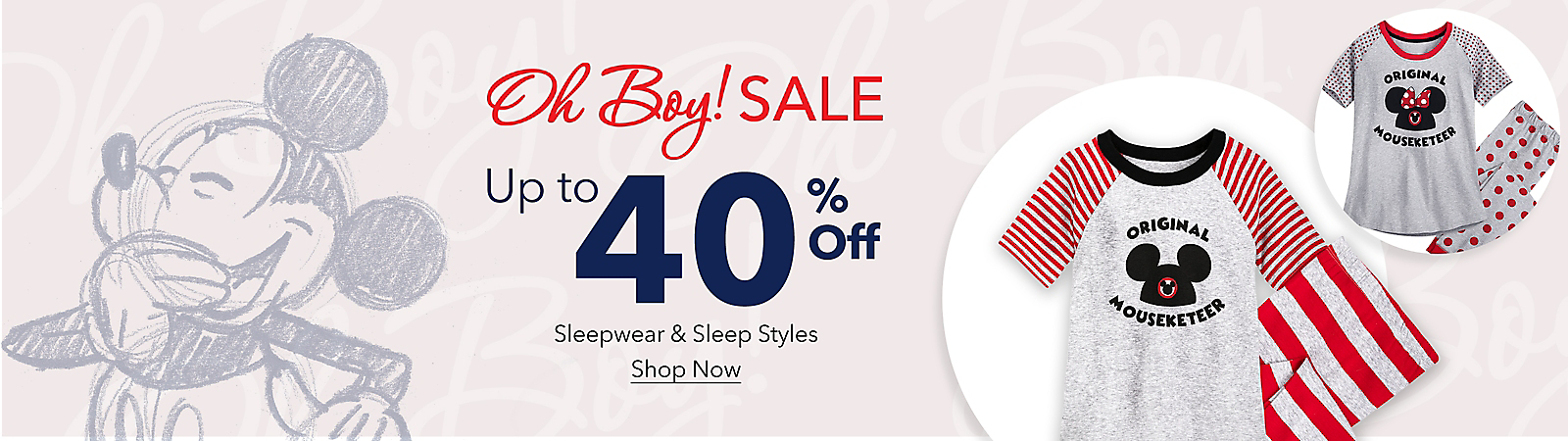 Oh Boy! Sale Up to 40% Off T-Shirts, Sleepwear & More