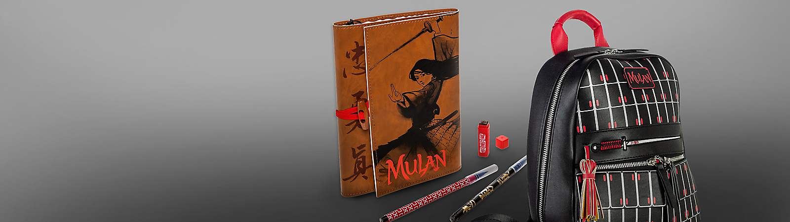 Mulan journal and Mulan Backpack