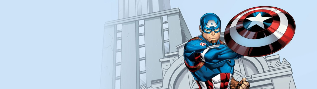 Background image of Captain America