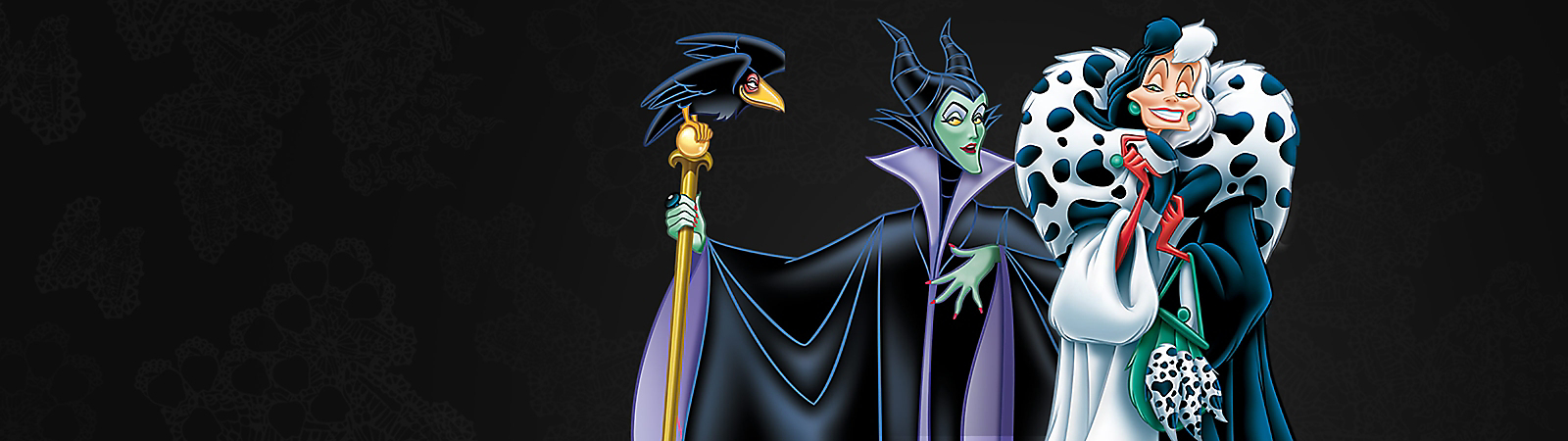 Background image of Disney Villains
