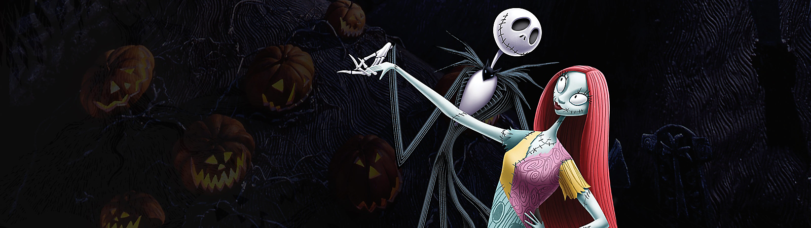 Background image of Tim Burton's The Nightmare Before Christmas