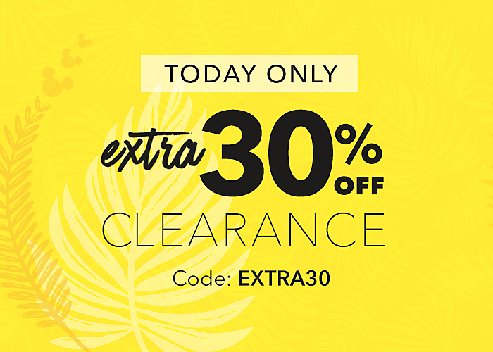 ToDay Only! Extra 30% Off Clearance with Code: EXTRA30