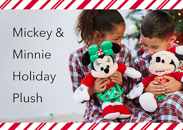 Mickey & Minnie Holiday Plush