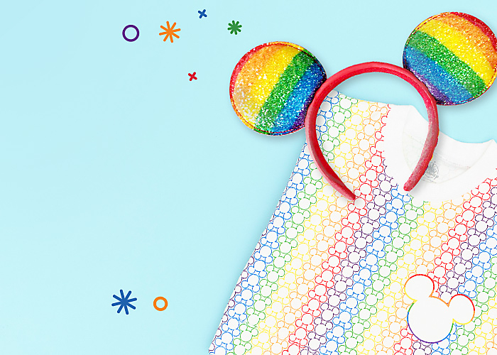 Background image of NEW Rainbow Disney Collection