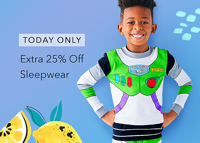 TODAY ONLY Extra 25% Off Sleepwear with Code: SUMMER25