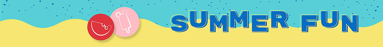 Summer fun colorful banner