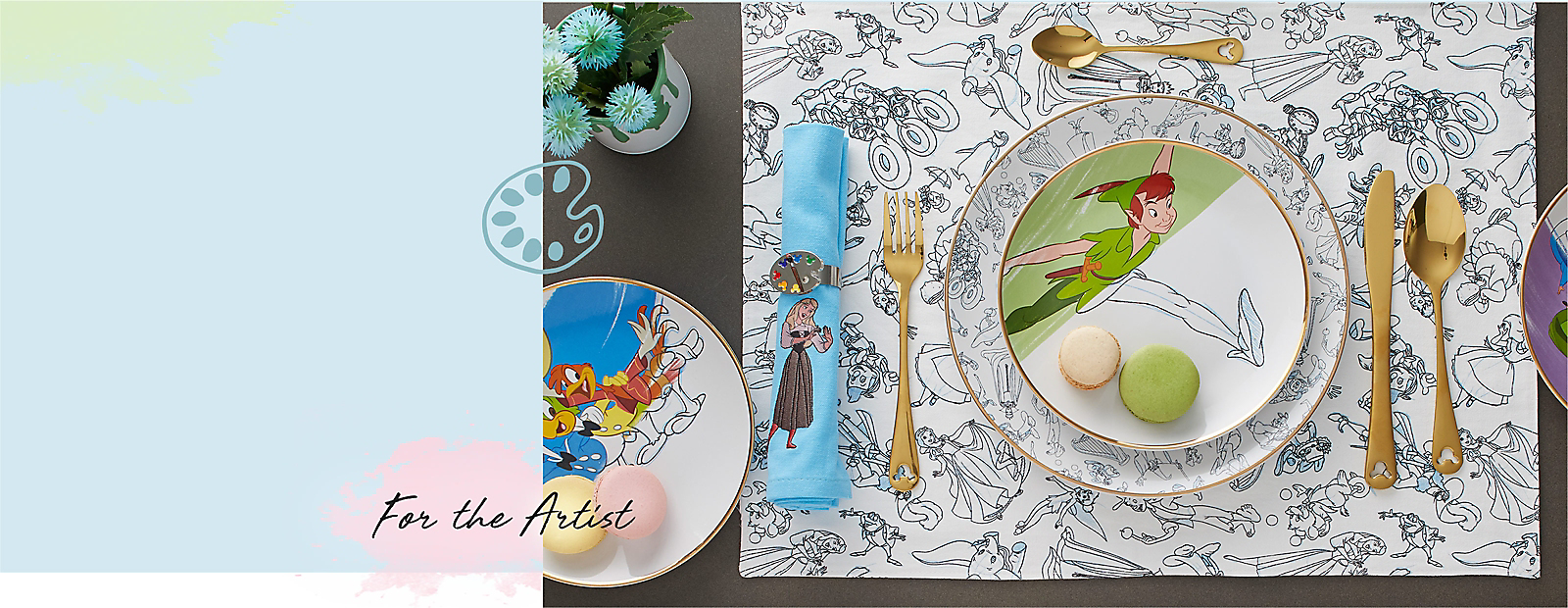 For the Artist Disney Ink and Paint dinnerware set