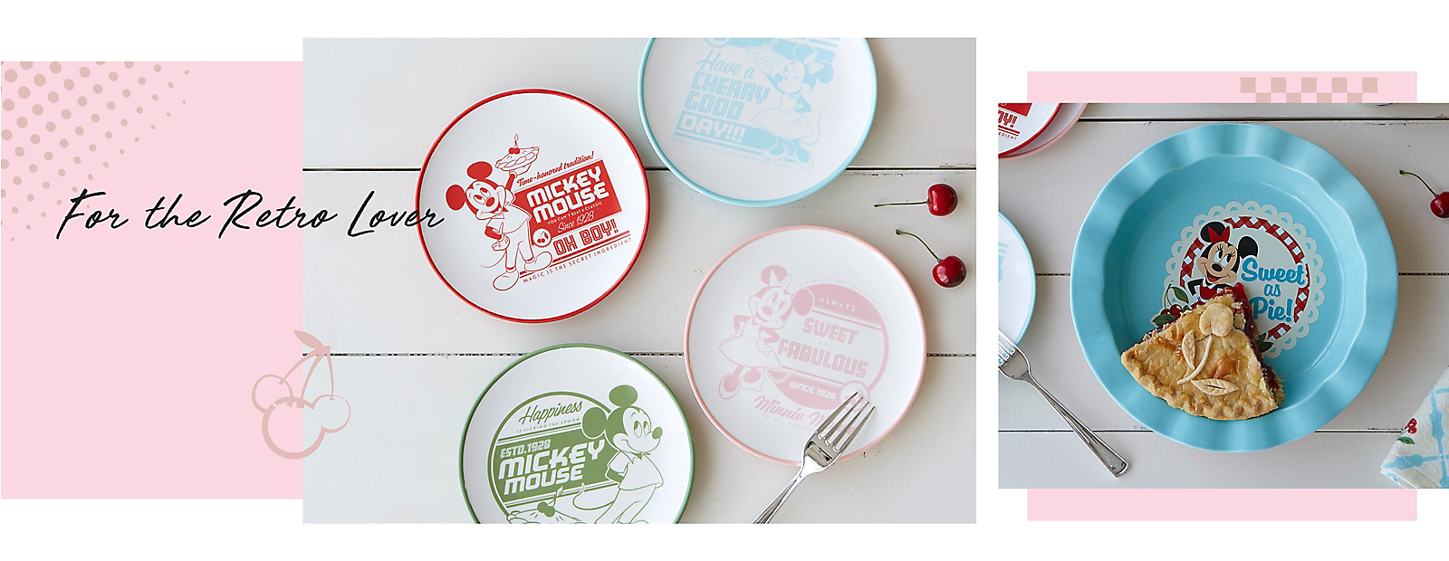 For the Retro Lover Disney Back in the Day dinnerware set