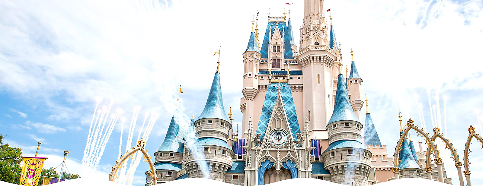 A World of Fun Commemorate the reopening of Walt Disney World from your castle.