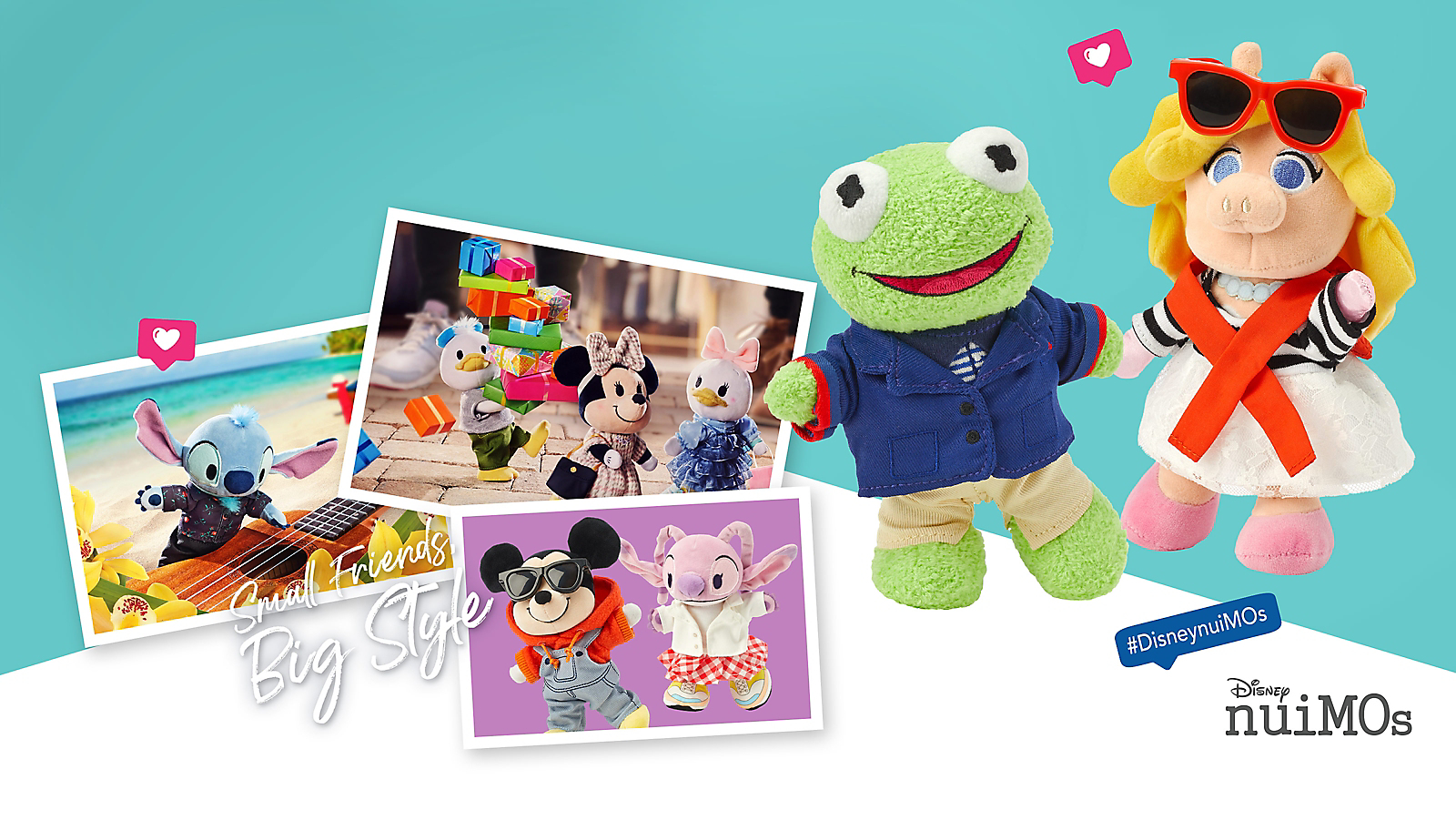 Background image of Welcome Kermit & Miss Piggy to the Disney nuiMOs Plush Family